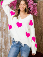 PINK Heart On My Sleeve Blend Sweaters