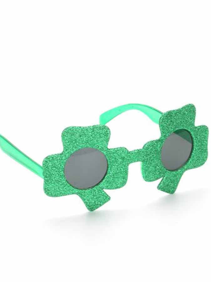 Shamrock Design St Patricks Day Glasses