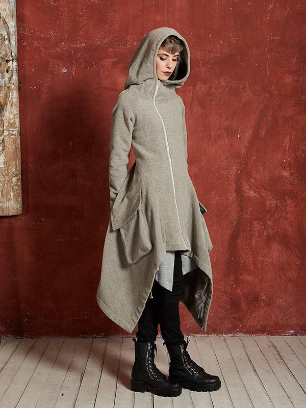 Asymmetrical Hooded Jacket
