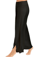Wide Leg High Slit Flowy Layered Long Yoga Pants