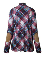 Plaid Striped Long Sleeve Cardigan