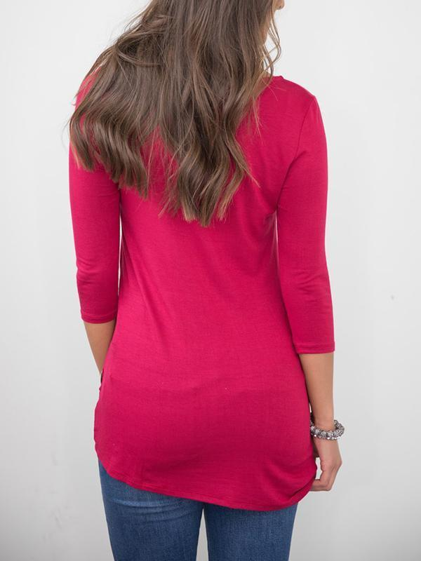 Love Me Completely Tunic Burgundy