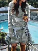 Casual Camouflage Print Dress