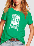 Feel' Lucky St Patricks Day Shamrock T-shirt