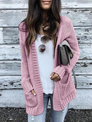 Long Sleeves Pocket Knit Cardigan
