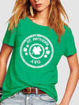 St Patricks Day Shamrocks Green T-shirt