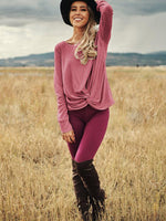 Solid Irregular Knot Blouse