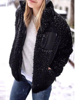 Faux Fur Teddy Pocketed Jacket