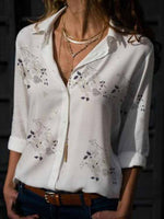 Floral Print Long Sleeve Blouse
