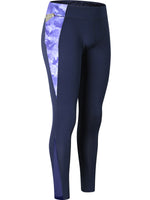 Printed Mesh Stitching Pocket Yoga Pants