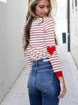 Heart On My Sleeve Stripe T-shirt