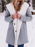 Fleece Lined Hooded Coat