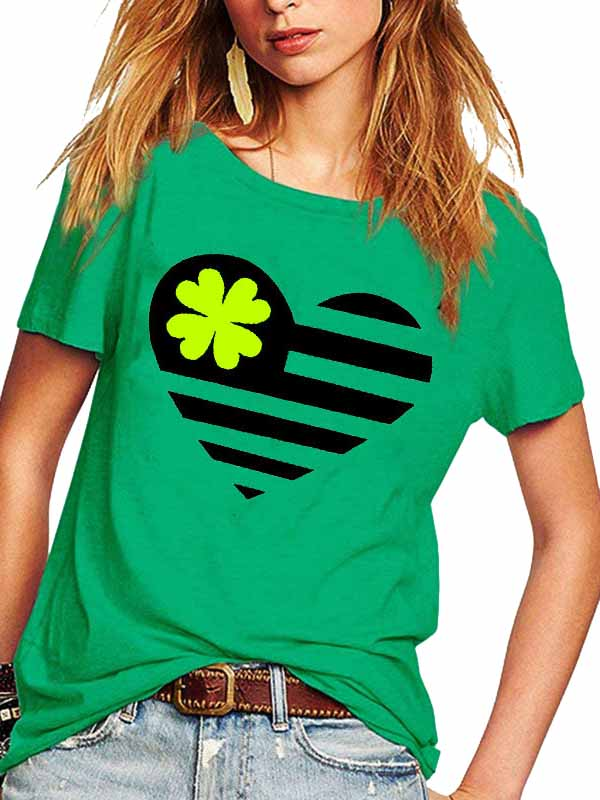 Shamrock Herart St Patricks Day T-shirt