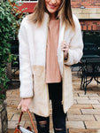 Colorblock Zip Up Coat