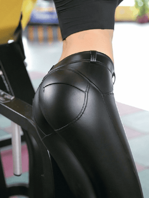 Vivimuses.com Bottoms PU Leather Pants Skinny Leggings