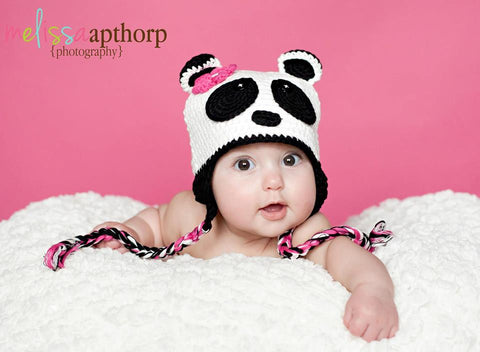 Black and White Panda Hat