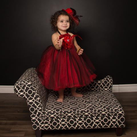Over the Top Red Tutu Dress Babies, Toddlers and Young Girls