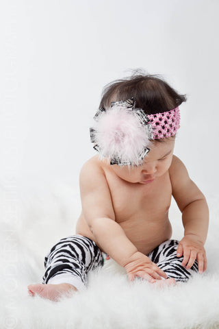 Zebra Arm and Leg Warmers for Infants, Toddlers and Young Adults