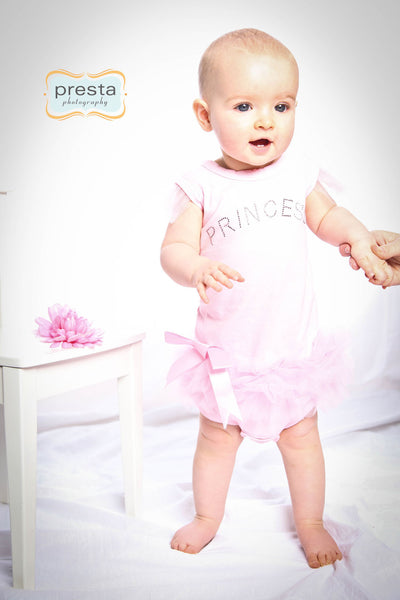 Pink Princess Onesie with Ruffles for Toddlers