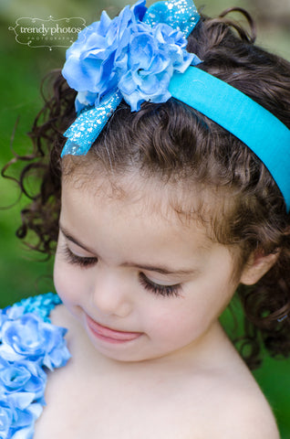 Blue Chloe Headband