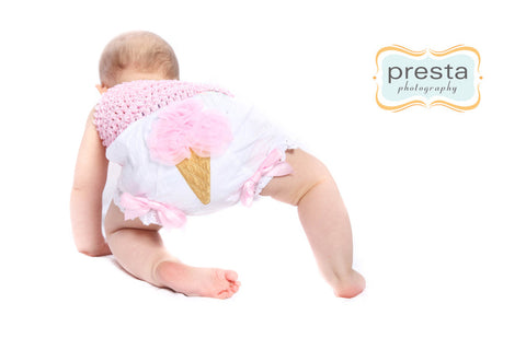 Ice Cream Bloomers for Infants Babies and Toddlers