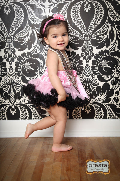 Precious Pink and Black Pettiskirt
