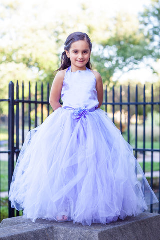 Lavender Flower Girl Tutu Gown