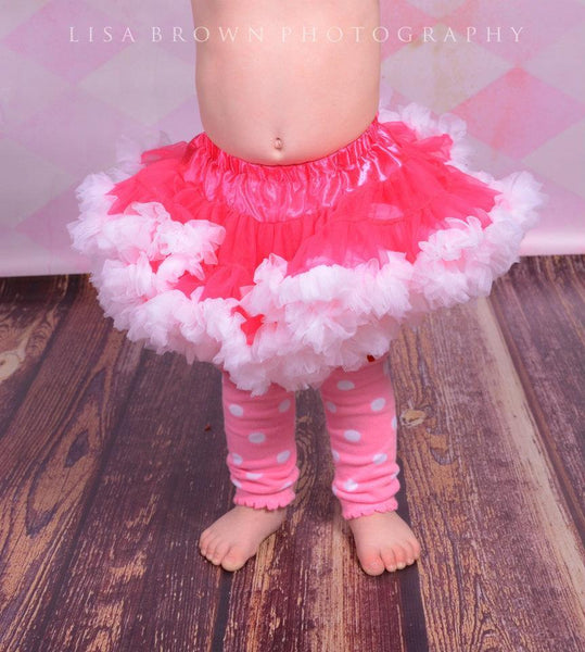 Pink and White Fluffy Pettiskirt