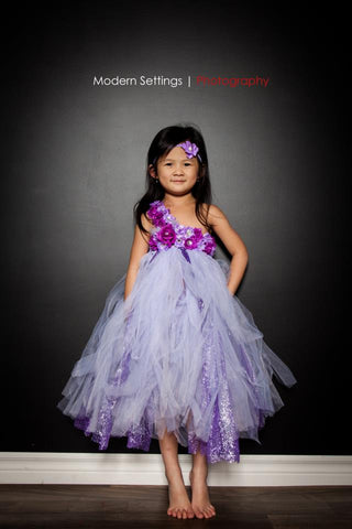 Lilac in Bloom Tutu Dress for Infants, Babies, Toddlers and Young Girls