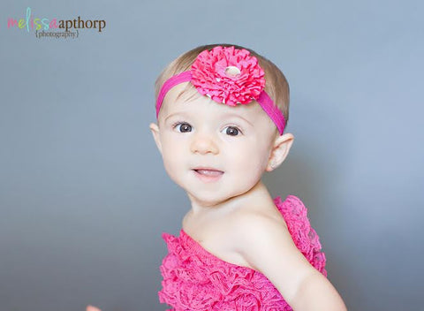 Hot Pink Leah Jewel Headband