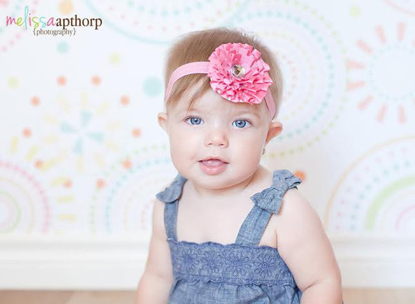 Baby Pink Leah Jewel headband