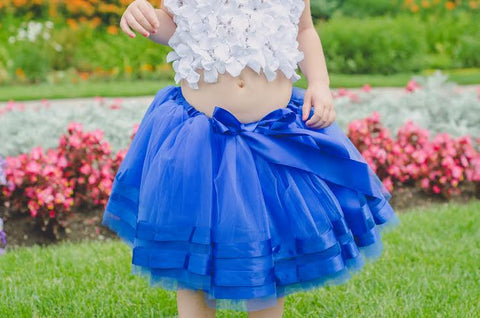 Blue Twirly Ballerina Tutu Skirt