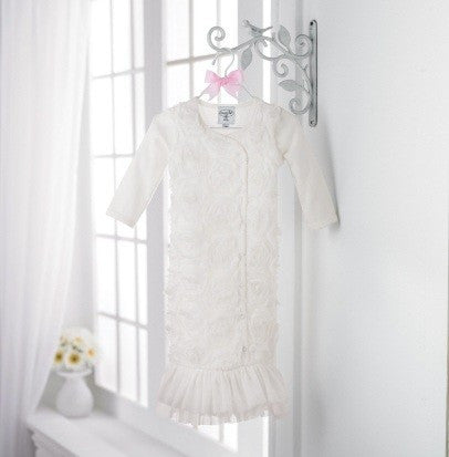 White Chiffon Sleep Gown for Infants.