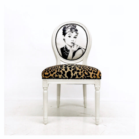 Audrey and Cheetah Print Side Chair