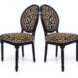 Leopard Print Side Chair