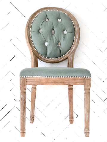 Clear Quartz & Sage Side Chair
