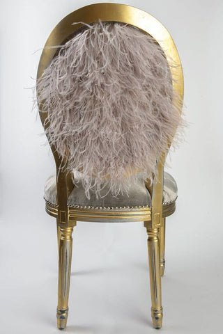 Ostrich Feather + Velvet Side Chair