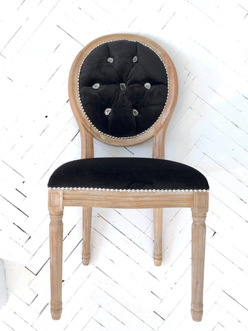 New Moon + Geode Velvet Side Chair