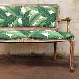Banana Leaf Upholstered Furniture | Settee Vintage Loveseat