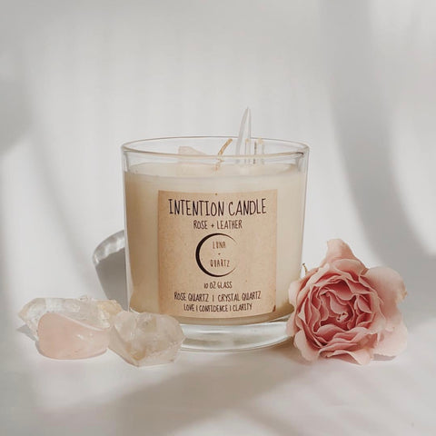 Candle | Rose + Leather Intention Candle
