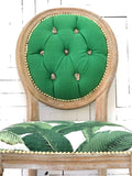 Banana Leaf & Pyrite Side chair