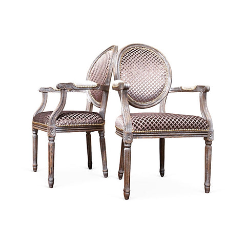 Gray & Silver Monochromatic Armchairs