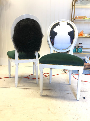 Custom order Pair of Chairs