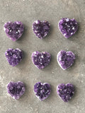 Amethyst Cluster Heart Shaped Crystal | Grade AAA