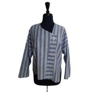The Calyx #3: Jacket Blue Stripes Size M