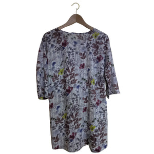 The Catkin #4: 3/4 Sleeve Tunic Wildflowers Size L