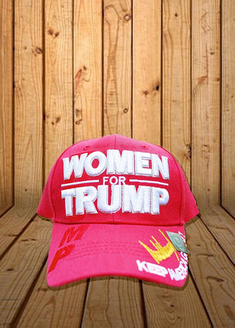 Women for Trump Signature Keep America Great Hat in RED