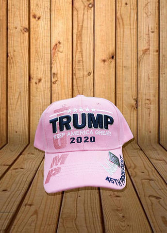 Trump 2020 Signature Keep America Great Hat.  Available in Pink.  One Size.
