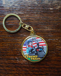 All Aboard the Trump Train Key Chain