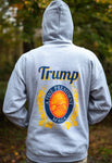 Trump A Fine President MAGA Sweatshirt in Pullover and Zip-Front. Available in Grey. Size S-XXXXL.
